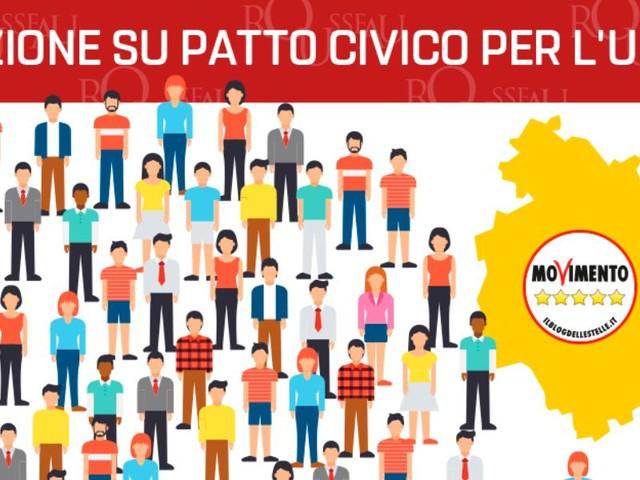 Piattaforma Rousseau, voto patto civico M5s-Pd Umbria/ Diretta risultati: il quesito