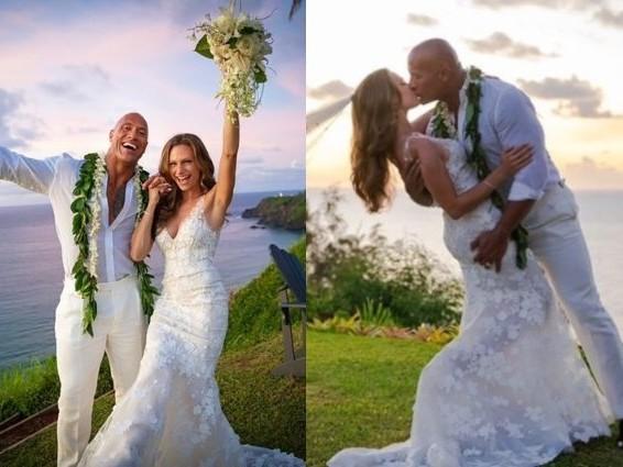 Dwayne Johnson si è sposato, The Rock ha detto sì a Lauren Hashian alle Hawaii
