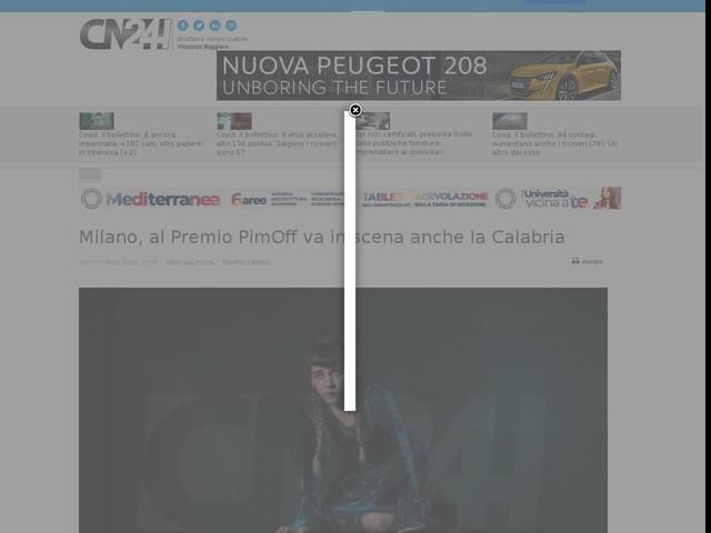 Milano, al Premio PimOff va in scena anche la Calabria