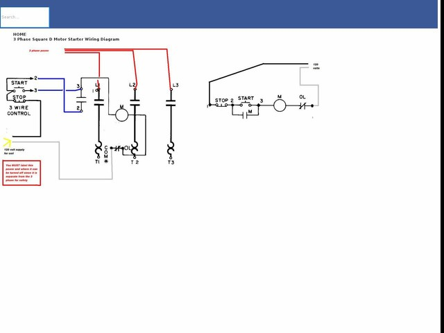 Phase Square D Motor Starter Wiring Diagram