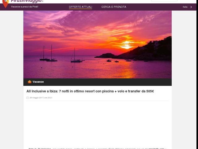 All Inclusive a Ibiza: 7 notti in ottimo resort con piscina + volo e transfer da 505€