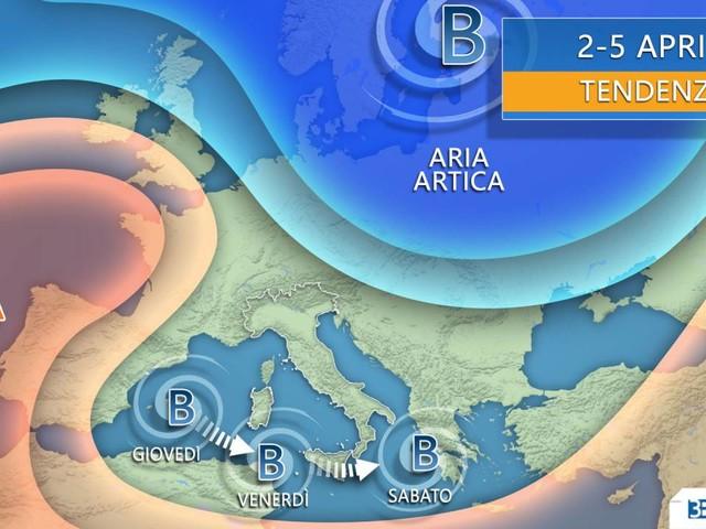 Meteo. Tra giovedì e il WEEKEND VORTICE MEDITERRANEO, conseguenze per l'Italia
