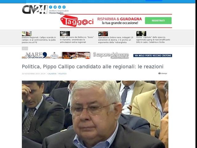 Politica, Pippo Callipo candidato alle regionali: le reazioni