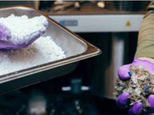 C'è un nuovo processo che trasforma la plastica in polvere
