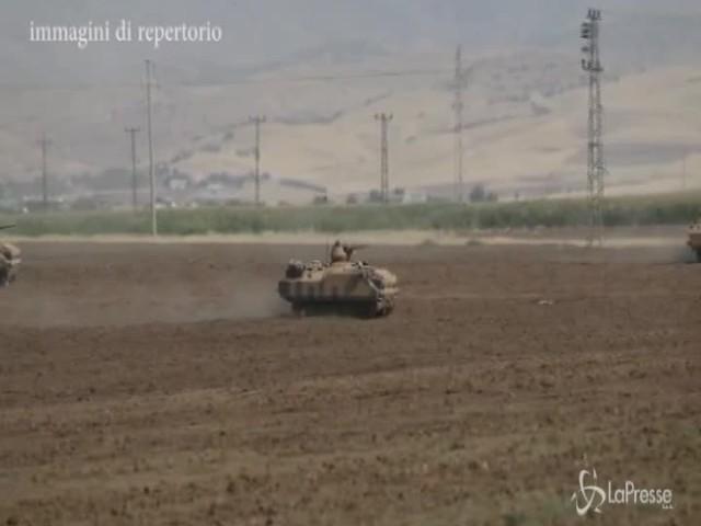 """Turchia: """"Completato ritiro dei curdi dal confine"""""""