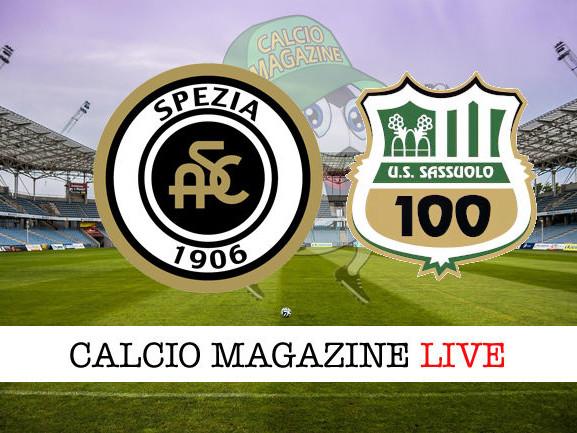 Spezia – Sassuolo: 1-4 cronaca diretta live, risultato in tempo reale