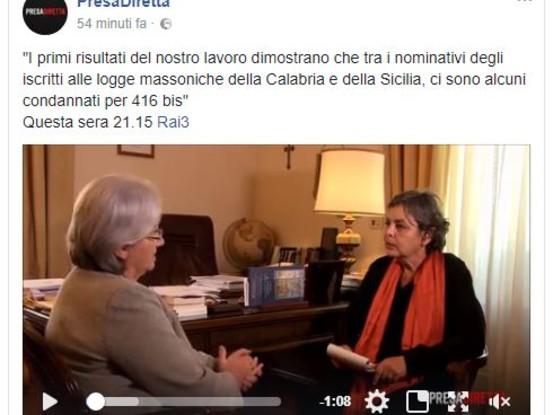 La Puntata di Presa Diretta di lunedì 25 settembre: la 'Ndrangheta non è solo Calabria