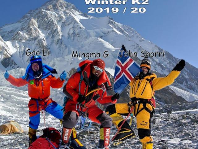 Invernale al K2 (8.611 m). Mingma Gyalje Sherpa e il suo team vicini al Campo Base