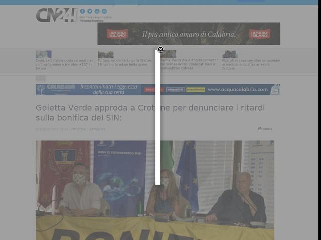 Goletta Verde approda a Crotone per denunciare i ritardi sulla bonifica del SIN: