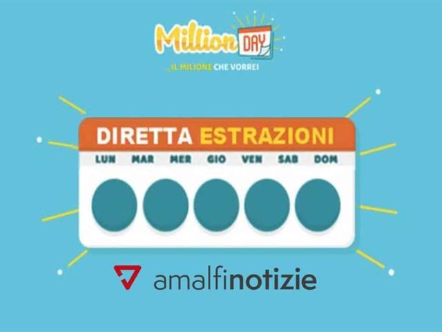 Million day 16 giugno estrazione di oggi, i numeri vincenti