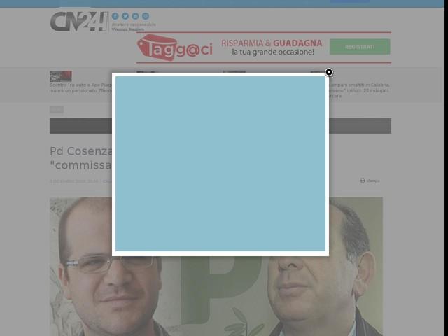 """Pd Cosenza e Crotone. Guglielmelli e Murgi: """"commissariamento illegittimo e """"stalinista"""""""