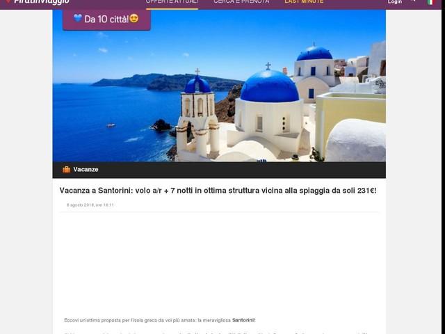 Vacanza a Santorini: volo a/r + 7 notti in ottima struttura vicina ...