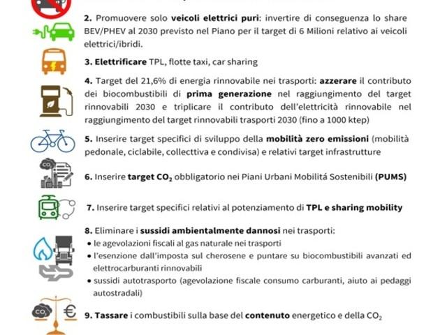 Trasporti, l'Italia non deve più vendere veicoli a combustione interna entro il 2030