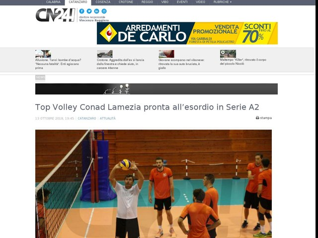 Top Volley Conad Lamezia pronta all'esordio in Serie A2