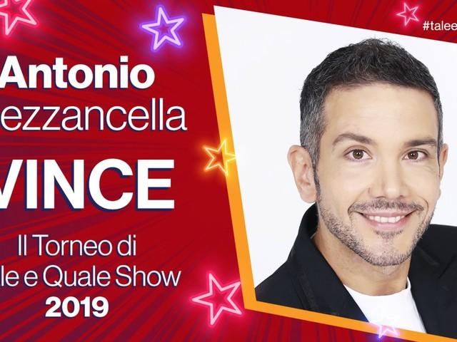 Tale e Quale Show 2019, Antonio Mezzancella è il campione del torneo