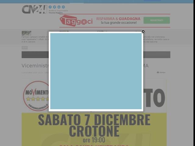 Viceministro Cancelleri in Calabria | IL PROGRAMMA