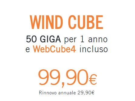 Offerte Wind mobile: 50 GB con Cube, come attivare