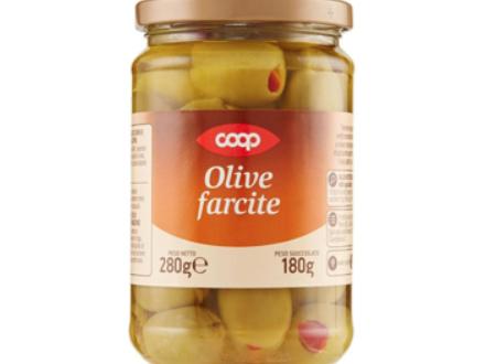 Coop richiama le olive farcite in olio di girasole: solfiti non dichiarati in etichetta