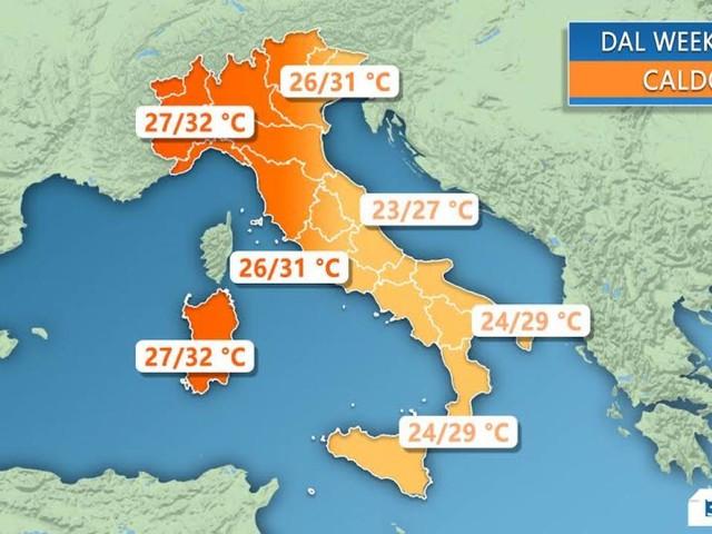 METEO WEEKEND - SOLE e CALDO gradevole su tutta ITALIA