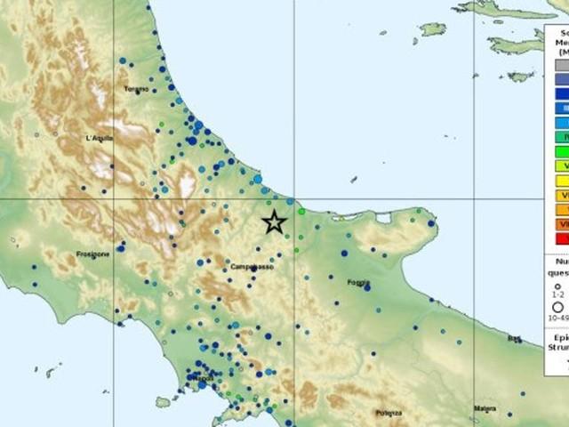 Terremoto di 4,7 in provincia di Campobasso, tanta paura ma non ci sarebbero danni