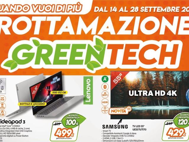 """Volantino Expert """"Rottamazione GreenTech"""" 14-28 settembre: sconto verde fino a 500€ (foto)"""