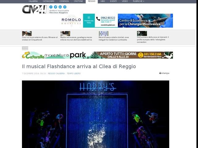Il musical Flashdance arriva al Cilea di Reggio
