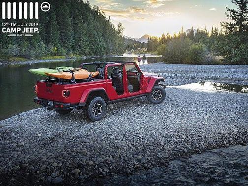 Jeep Gladiator: anteprima europea al Jeep Camp 2019