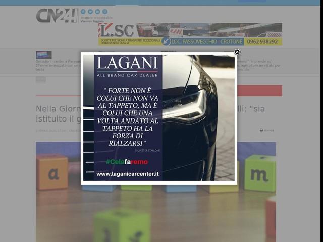 """Nella Giornata dell'autismo Rocca chiede a Santelli: """"sia istituito il garante"""""""