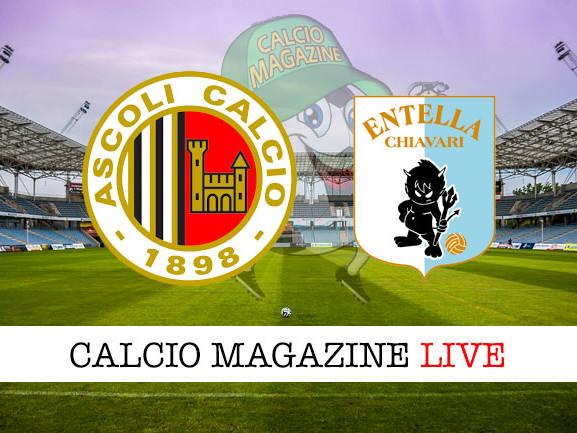 Ascoli – Virtus Entella: cronaca diretta live, risultato in tempo reale