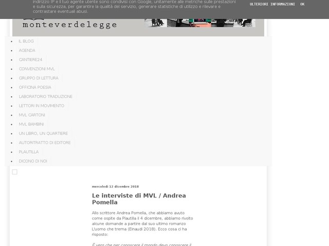 Le interviste di MVL / Andrea Pomella