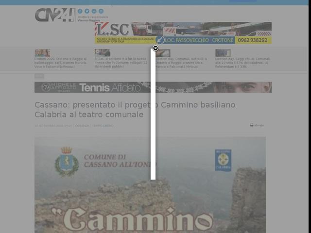 Cassano: presentato il progetto Cammino basiliano Calabria al teatro comunale