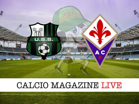 Sassuolo – Fiorentina: cronaca diretta live, risultato in tempo reale