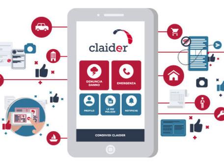 Claider, l'app che contatta l'assicurazione