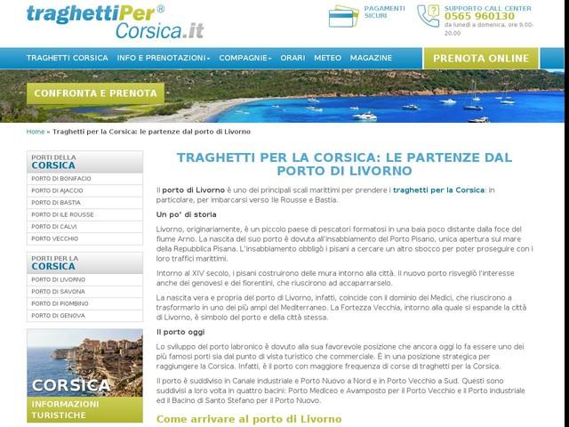 Porto di Livorno: tutti traghetti per Bastia e Ile Rousse, in Corsica