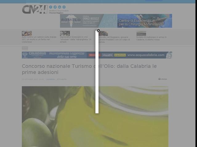 Concorso nazionale Turismo dell'Olio: dalla Calabria le prime adesioni