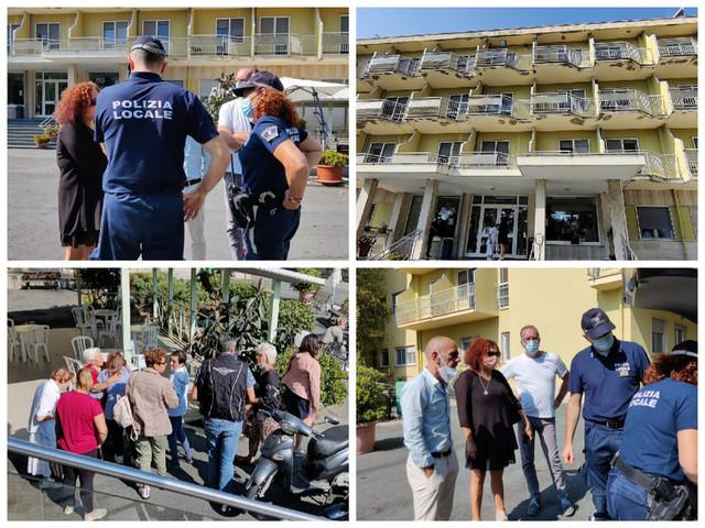 Sanremo, i sindacati chiedono di entrare a 'Casa Serena' ma la proprietà li lascia fuori: intervengono le forze dell'ordine (foto e video)