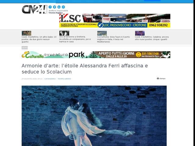 Armonie d'arte: l'étoile Alessandra Ferri affascina e seduce lo Scolacium