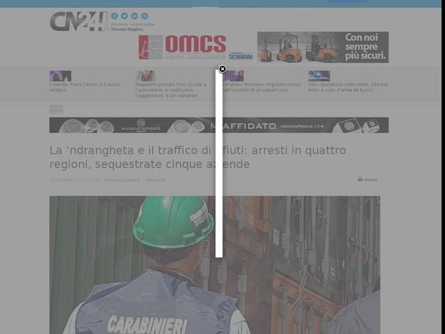 La 'ndrangheta e il traffico di rifiuti: arresti in quattro regioni, sequestrate cinque aziende