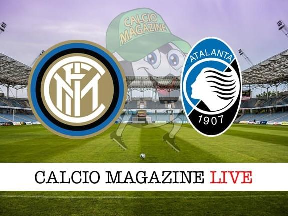 Inter-Atalanta cronaca e risultato in tempo reale, formazioni