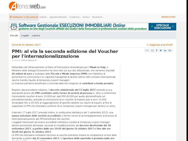 PMI: al via la seconda edizione del Voucher per l'internazionalizzazione