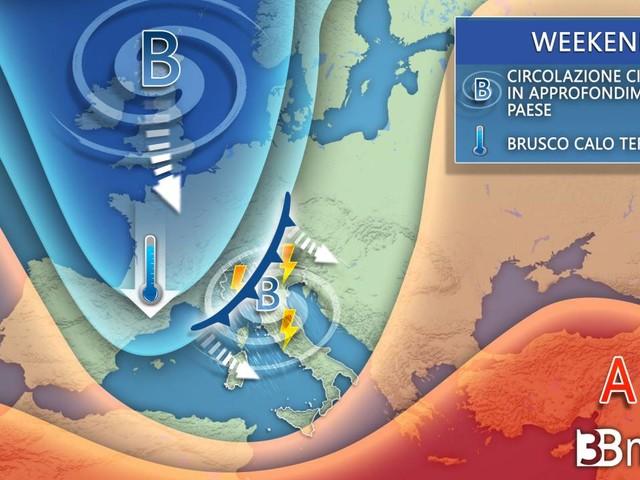 AVVISO meteo -- INTENSA PERTURBAZIONE in ARRIVO tra venerdì e il WEEKEND, MALTEMPO con NEVE sulle Alpi