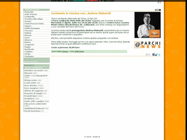 AREA Parchi - Cucinando in Cascina con...Andrea Mainardi!