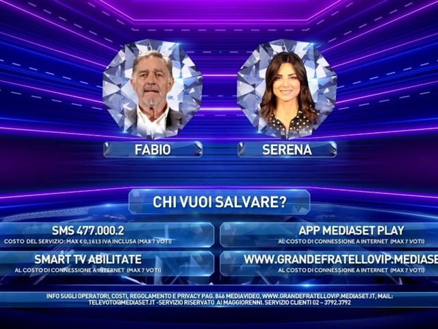 """""""GF Vip"""", Serena Enardu rientra in Casa ma è ancora in nomination con Fabio Testi"""
