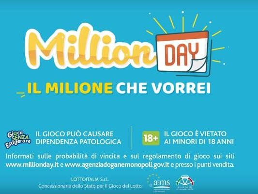 Estrazione Million Day venerdì 7 dicembre: diretta risultati