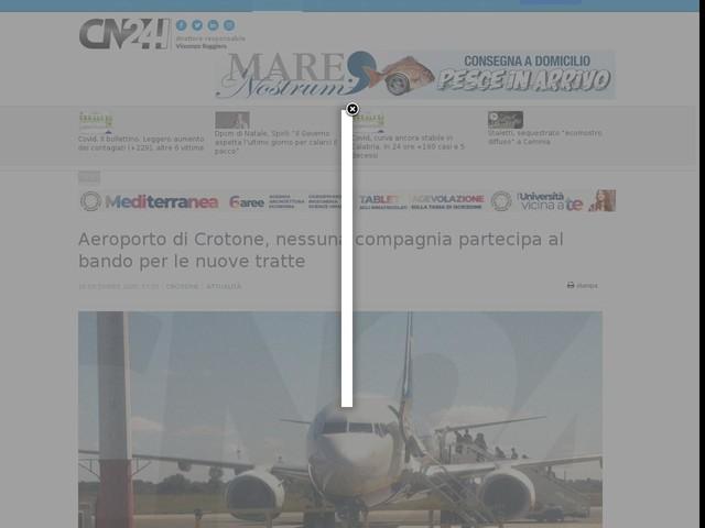 Aeroporto di Crotone, nessuna compagnia partecipa al bando per le nuove tratte