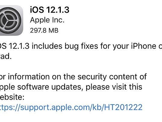 iOS 12.1.3 disponibile da oggi: Tutte le migliorie apportate
