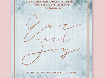 How to Create a Marble Wedding Invite in Adobe InDesign