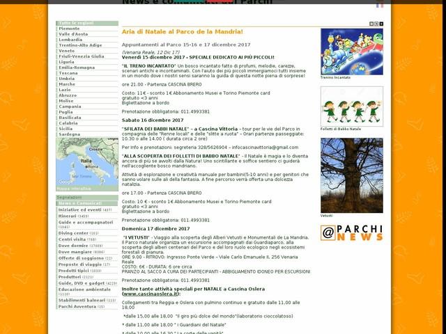 Ente di gestione delle aree protette dei Parchi Reali - Aria di Natale al Parco de la Mandria!
