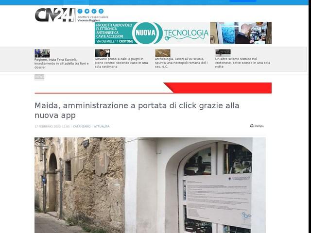 Maida, amministrazione a portata di click grazie alla nuova app