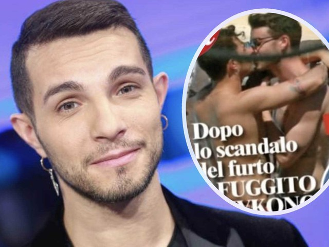 Marco Carta paparazzato a Mykonos con il fidanzato – la foto del bacio